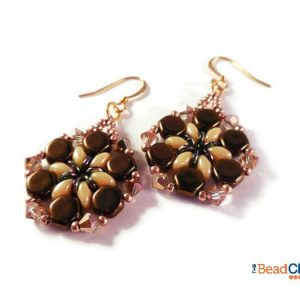 The Asta Earrings beading pattern is perfect for beginners. Go wild and make these beaded earrings in several different colors for yourself or as gifts for any occasion!