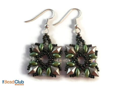 Free Easy Beading Pattern- How To Create The Picture Frame Earrings