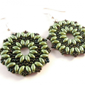 Starburst Earrings Tutorial- Simple Free Beaded Earring Pattern