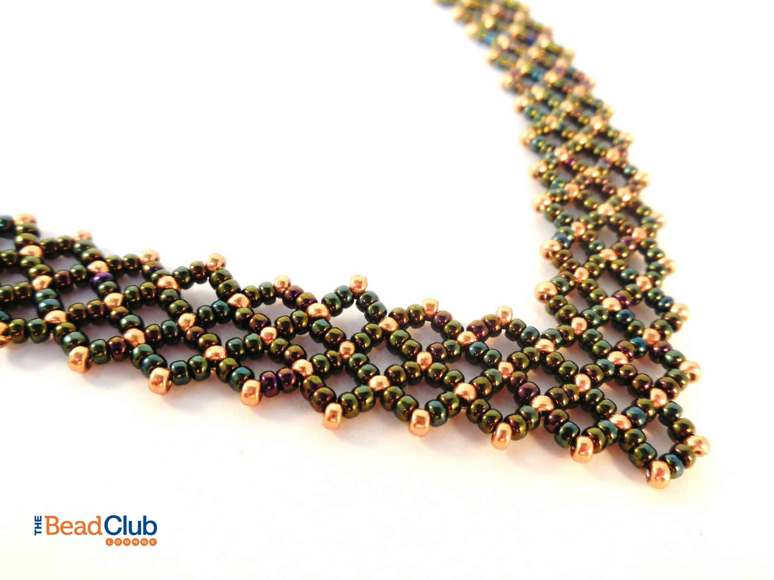 Download the Alanis Necklace Right Angle Weave Beading Pattern.