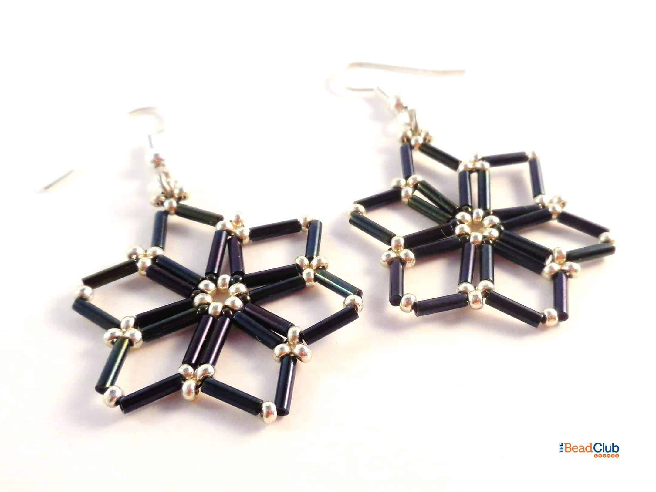 Download the Starry Nights Earring Beading Pattern.