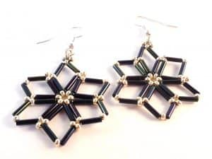 Starry Nights Earrings Beading Pattern - The Bead Club Lounge