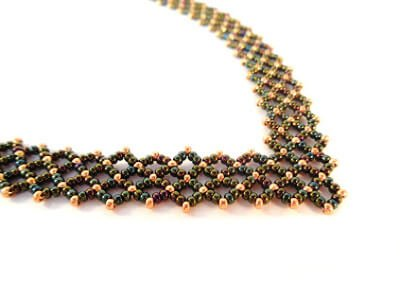 Alanis Necklace Beading Pattern - The Bead Club Lounge