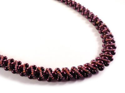 Swirls Necklace Beading Pattern - The Bead Club Lounge