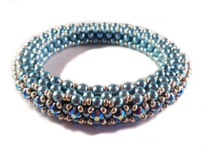 Tennis Bracelet Bangle Beading Pattern - The Bead Club Lounge