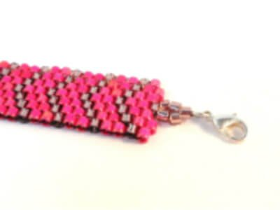 Flat Odd Count Peyote Stitch bracelet pattern by The Bead Club Lounge