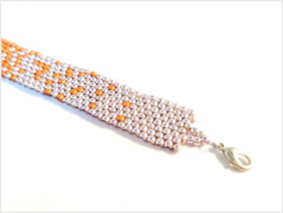 Ombre Charted Peyote Bracelet Pattern by The Bead Club Lounge
