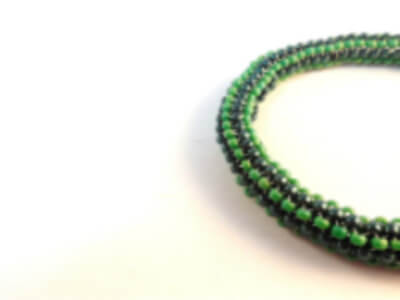 Tubular Even Count Peyote Stitch bracelet pattern by The Bead Club Lounge