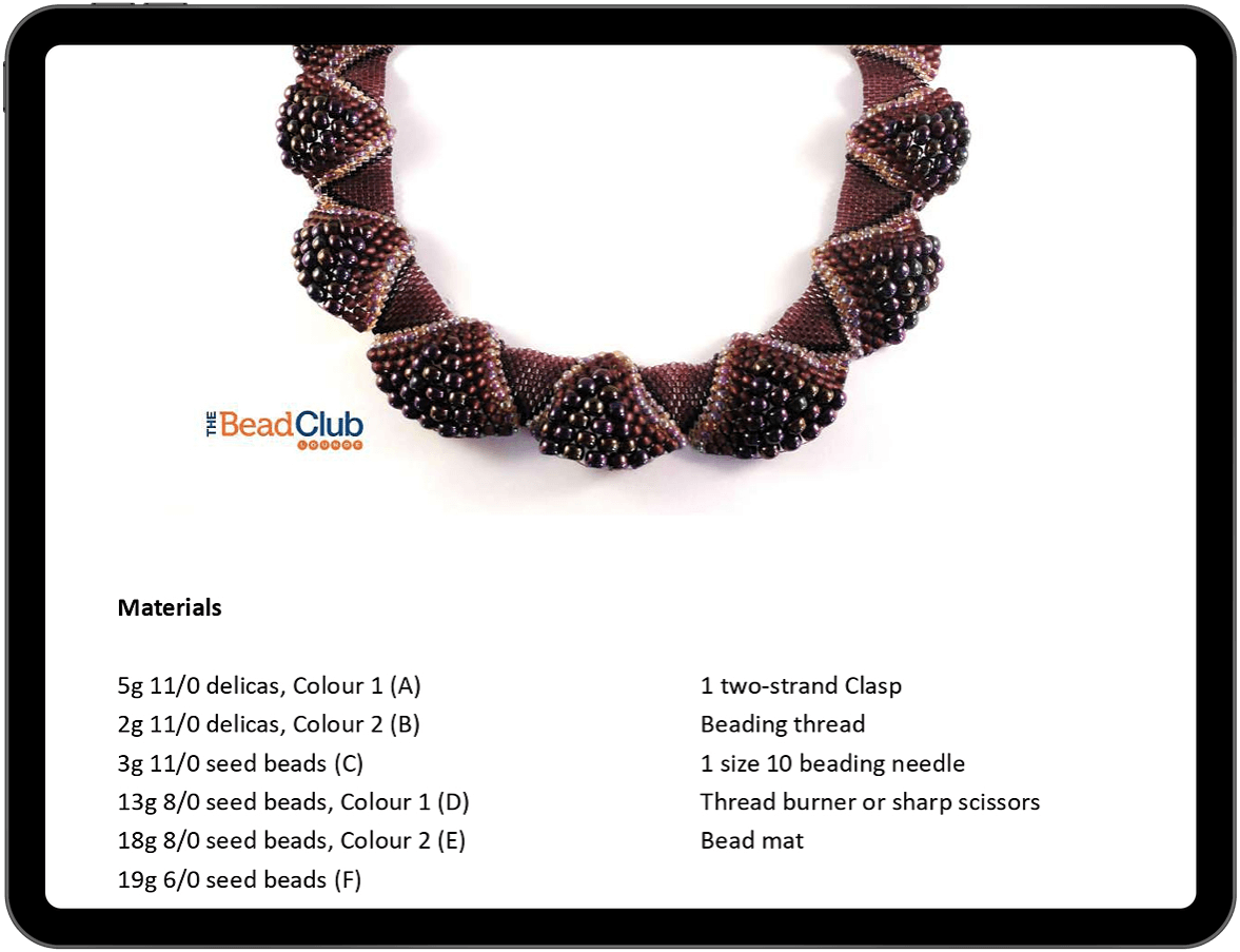Ruffled Collar Peyote beading pattern by The Bead Club Lounge
