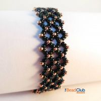 Make the Sunflower Bracelet using this free beading pattern from The Bead Club.